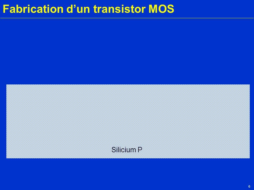 7 Fabrication dun transistor MOS Silicium P Oxyde Oxydation de champ