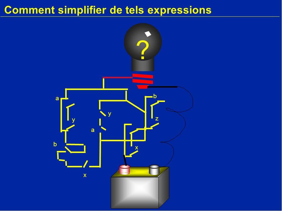 Comment simplifier de tels expressions a x b y x z b y a ?