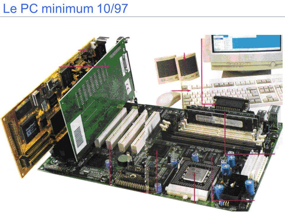 Les connecteurs servent à recevoir les cartes dextension (graphique, modem...).