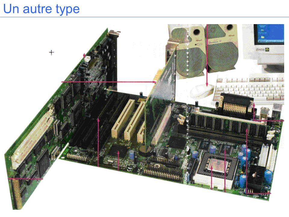 Bus et connecteurs Exemples : PCI rapide (132MHz) ISA (16MHz) a vocation à disparaître 3 connecteurs PCI et 3Isa dont un commun.