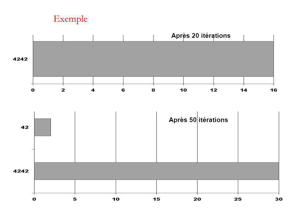 Exemple Après 50 itérations Après 20 itérations