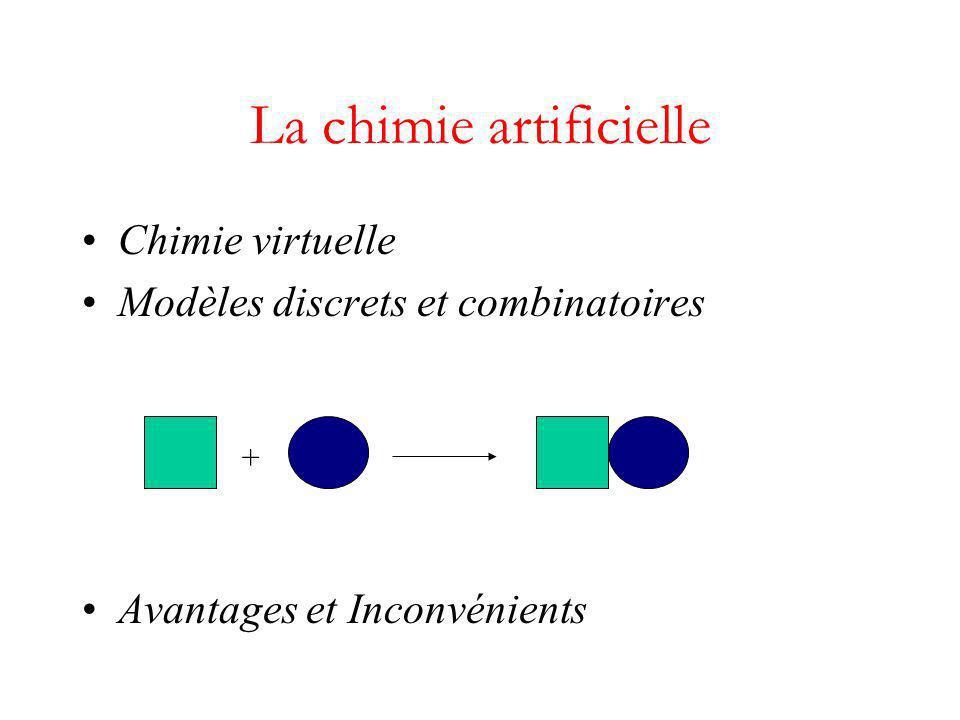 Chimie virtuelle Modèles discrets et combinatoires Avantages et Inconvénients La chimie artificielle +