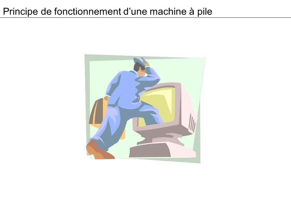 Principe de fonctionnement dune machine à pile