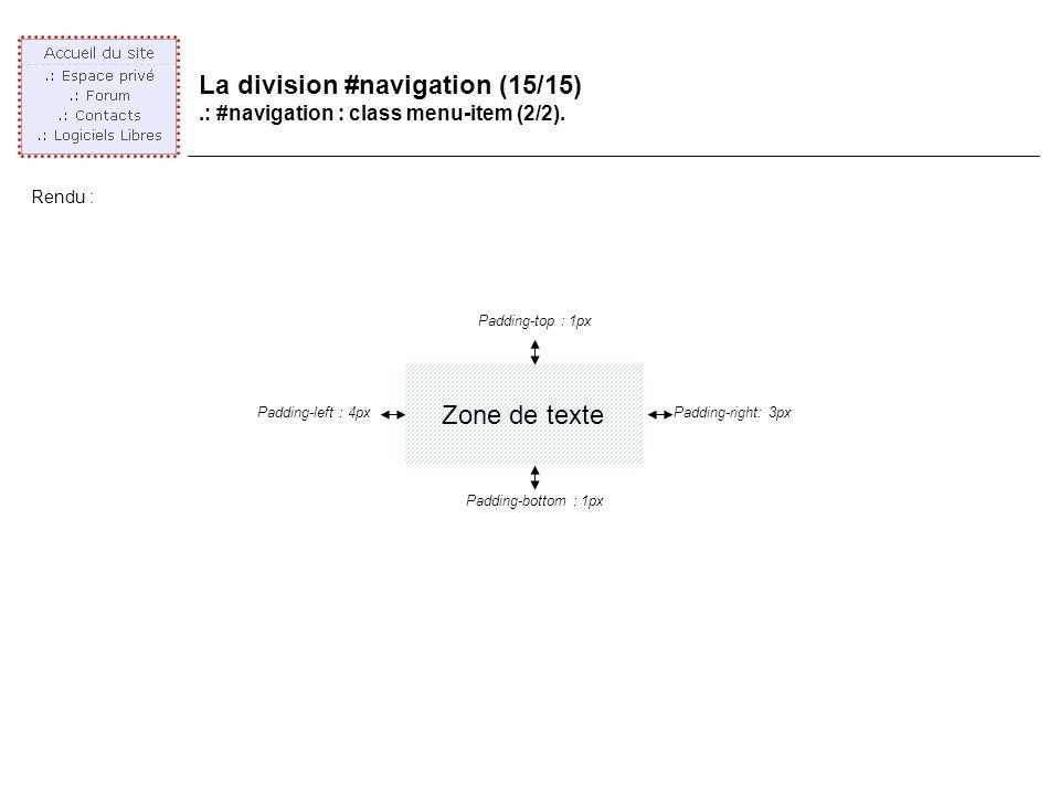 La division #navigation (15/15).: #navigation : class menu-item (2/2).