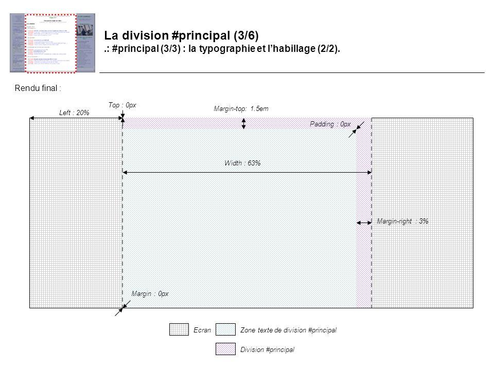 La division #principal (3/6).: #principal (3/3) : la typographie et lhabillage (2/2).