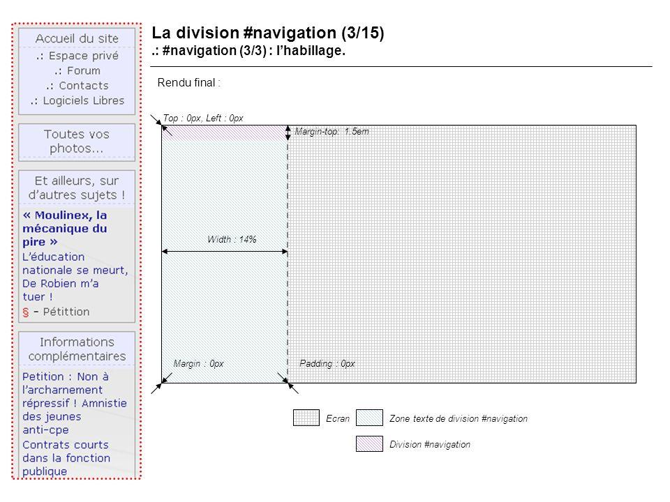 La division #navigation (3/15).: #navigation (3/3) : lhabillage.