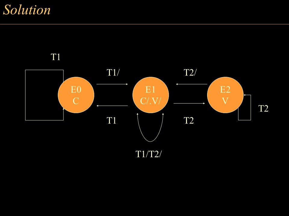 Solution E0 C E1 C/.V/ E2 V T1 T1/ T1/T2/ T2/ T2