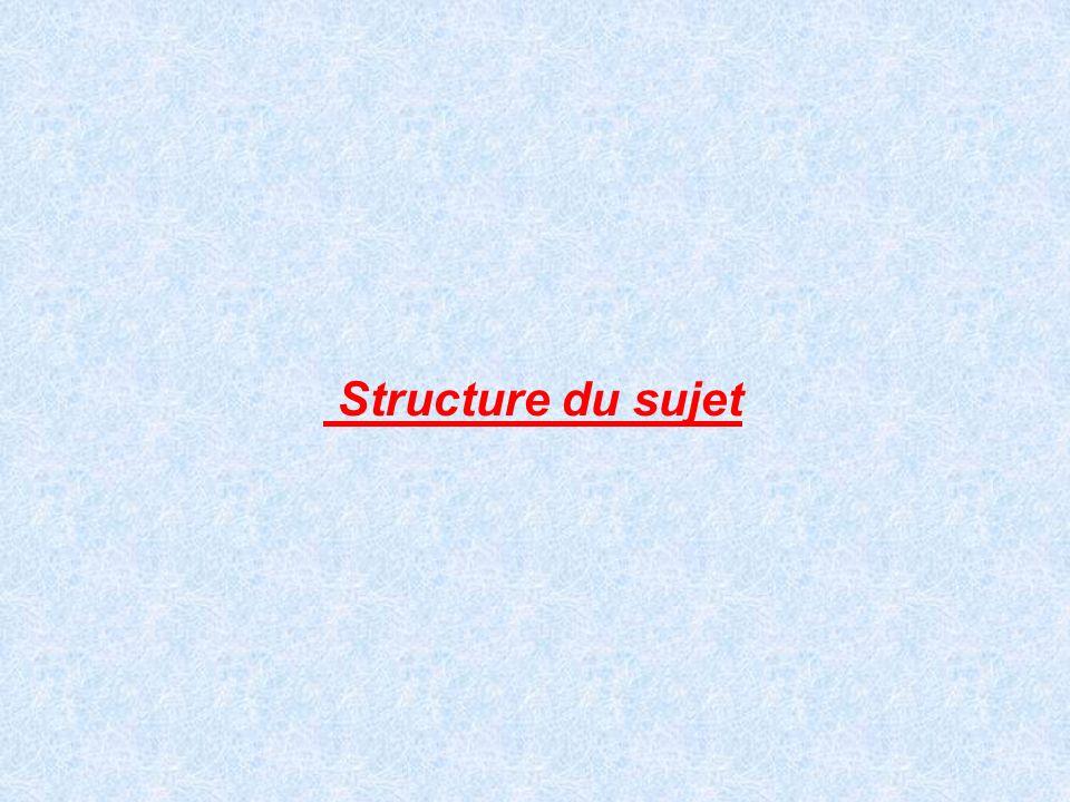 Structure du sujet