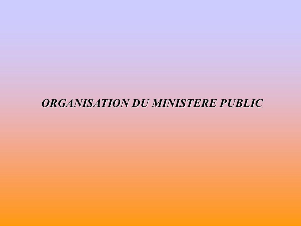 MAGISTRAT DU MINISTÈRE PUBLIC Les membres du ministère public Les ministère public constitue la magistrature debout, soumise aux ordres de sa hiérarchie.