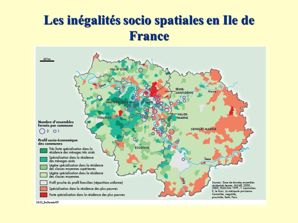 Les inégalités socio spatiales en Ile de France