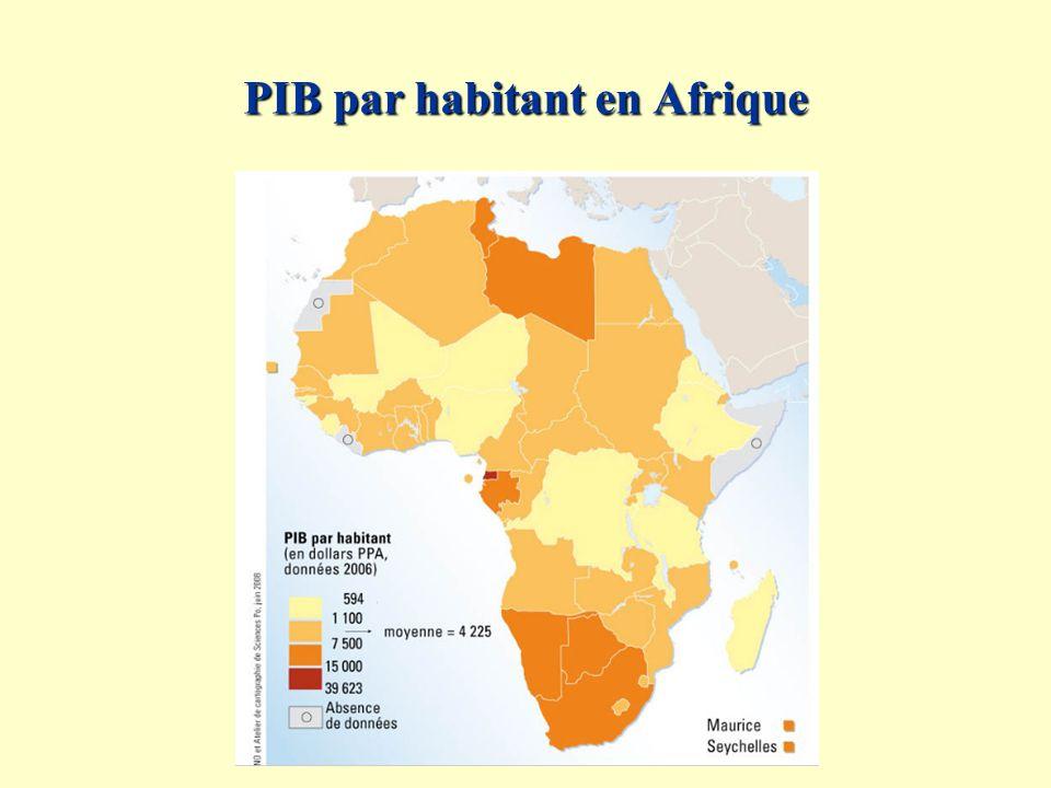 PIB par habitant en Afrique