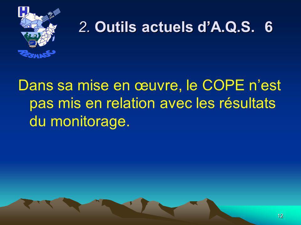 11 2.Outils actuels dA.Q.S.