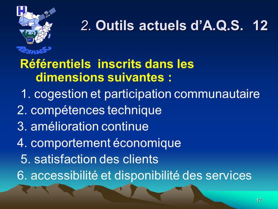 16 2.Outils actuels dA.Q.S.