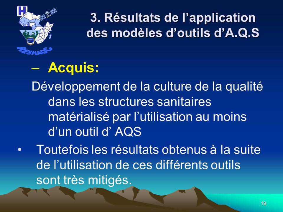 18 2.Outils actuels dA.Q.S.
