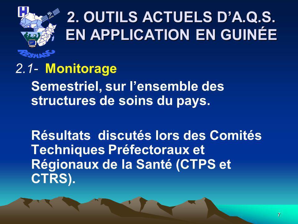 17 2.Outils actuels dA.Q.S. 12 Référentiels inscrits dans les dimensions suivantes : 1.