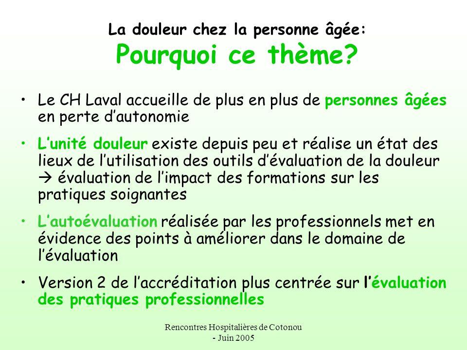 Rencontres Hospitalières de Cotonou - Juin 2005 PREPARATION Planifier: Le Diagramme de Gantt