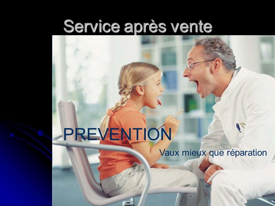 Service après vente PREVENTION Vaux mieux que réparation