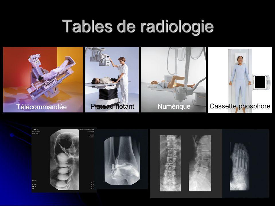 Tables de radiologie Télécommandée Plateau flotantNumérique Cassette phosphore