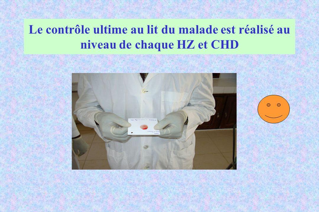 Le contrôle ultime au lit du malade est réalisé au niveau de chaque HZ et CHD