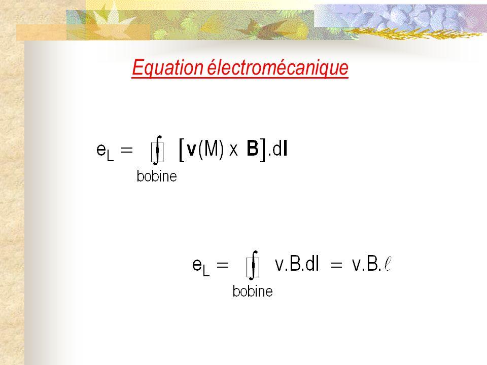 Equation électromécanique