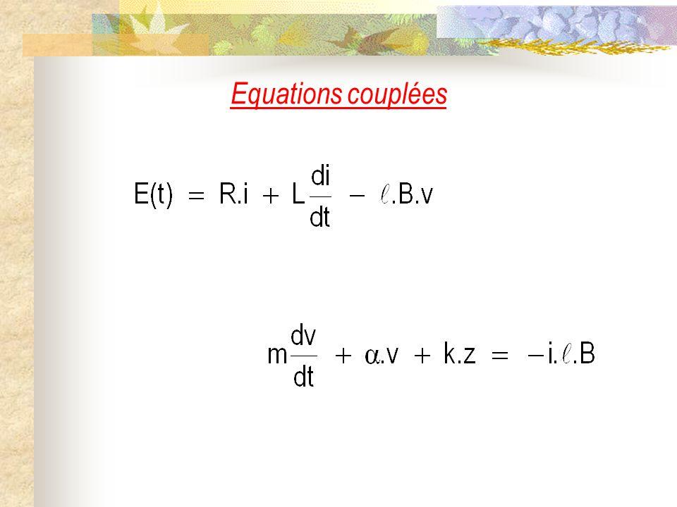 Equations couplées