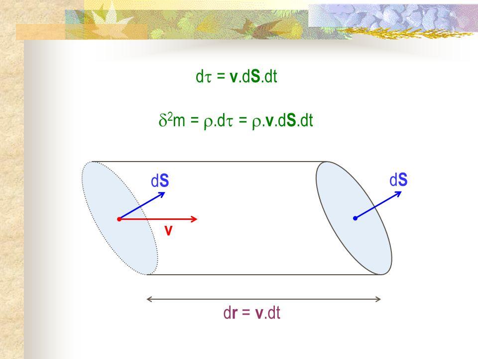 d = v.d S.dt dSdS v dSdS 2 m =.d =. v.d S.dt d r = v.dt