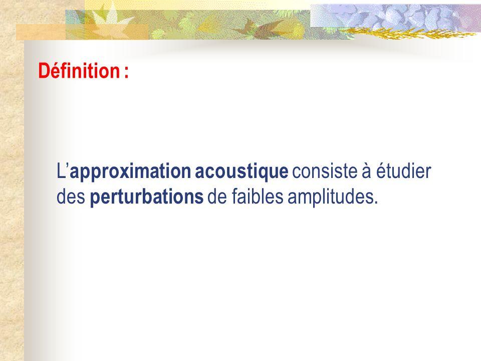 Les ondes sonores dans un fluide III) Aspect énergétique 5) Intensité sonore et décibels acoustiques a) Intensité sonore b) Décibels acoustiques