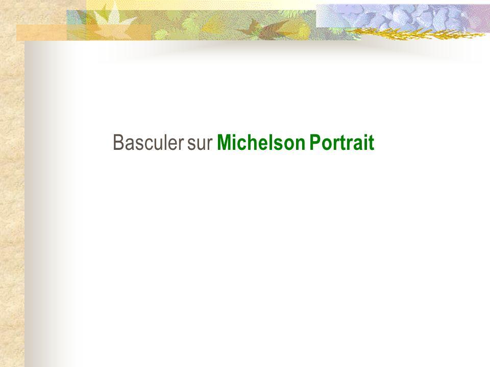 Basculer sur Michelson Portrait
