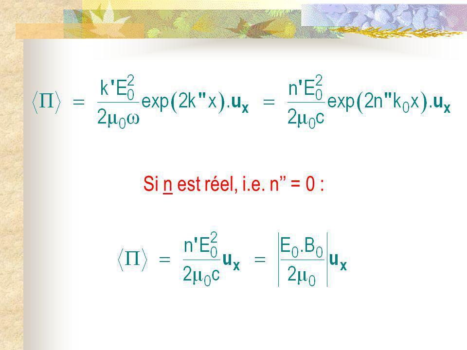 Si n est réel, i.e. n = 0 :