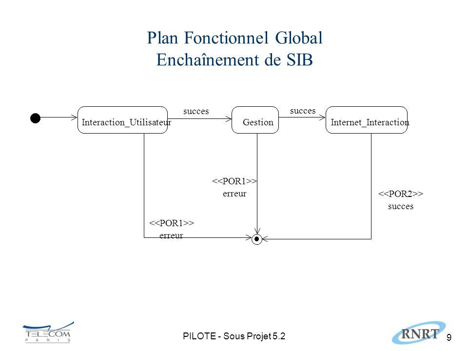 PILOTE - Sous Projet 5.2 10 Profil du Plan Fonctionnel Réparti IN SIB run_SIB SSD1 ….