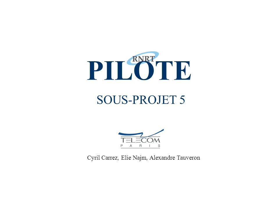 PILOTE - Sous Projet 5.2 1 PILOTE SOUS-PROJET 5 Cyril Carrez, Elie Najm, Alexandre Tauveron