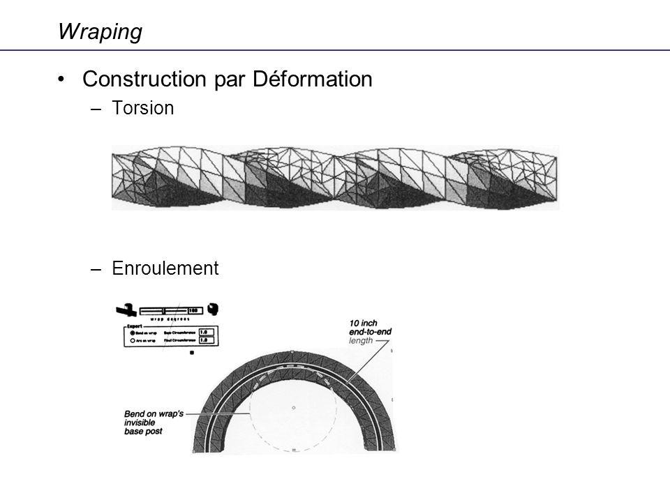 Wraping Construction par Déformation –Torsion –Enroulement