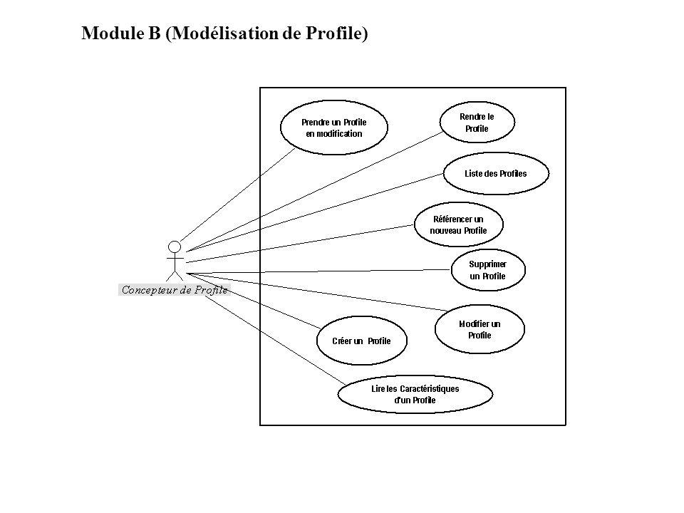 Caractéristiques dun Profile Filtrage Vues Vues A Vues B Vues C Commandes de Validation Définition du filtre global Filtre 1 Filtre 2 Filtre 3 Cmd g1 Cmd g2 Méthode g J1 Méthode g J2 Cmd v1 Cmd v2 Méthode v J1 Méthode v J2 Extensions UML Tag 1 tag 2 ….
