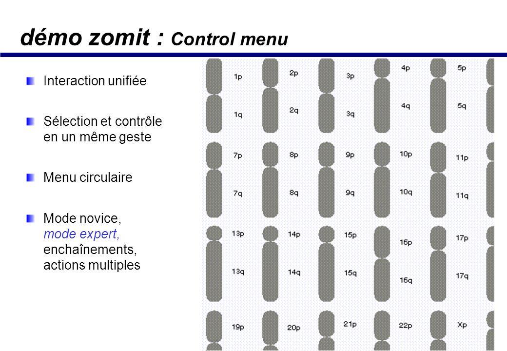 démo zomit : ZUIs & aides contextuelles Localiser position courante / contexte Vue locale / vue globale (transparence) Le mouvement aide à séparer les 2 vues Démo Web: www.enst.fr/~elc Zomit démo