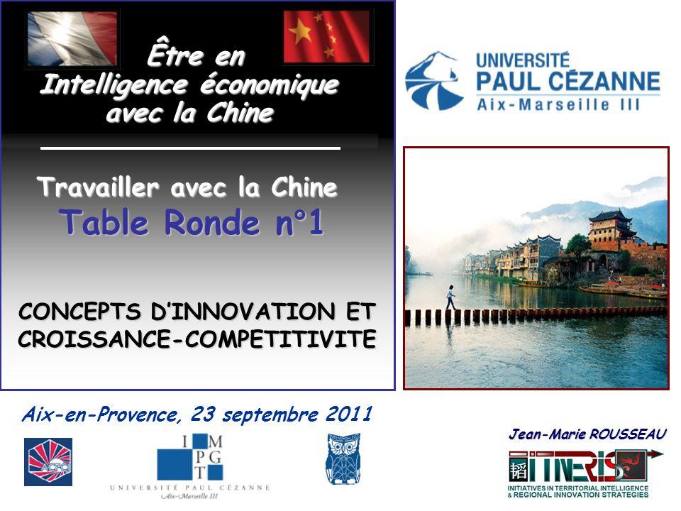 Aix-en-Provence, 23 septembre 2011 Être en Être en Intelligence économique avec la Chine Jean-Marie ROUSSEAU Jean-Marie ROUSSEAU Travailler avec la Ch