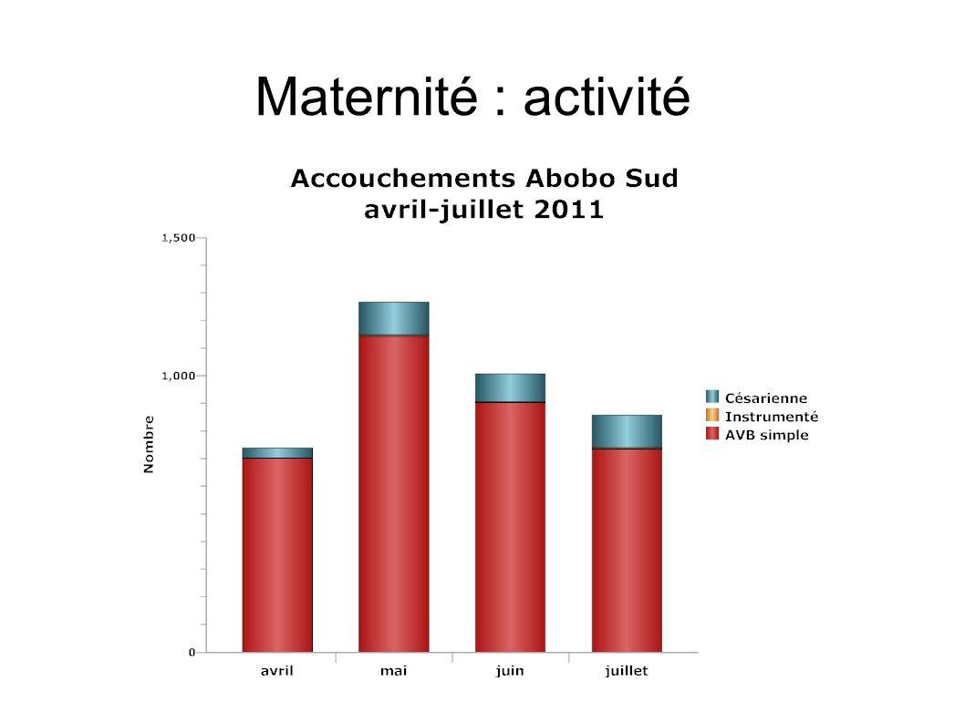 Maternité : activité