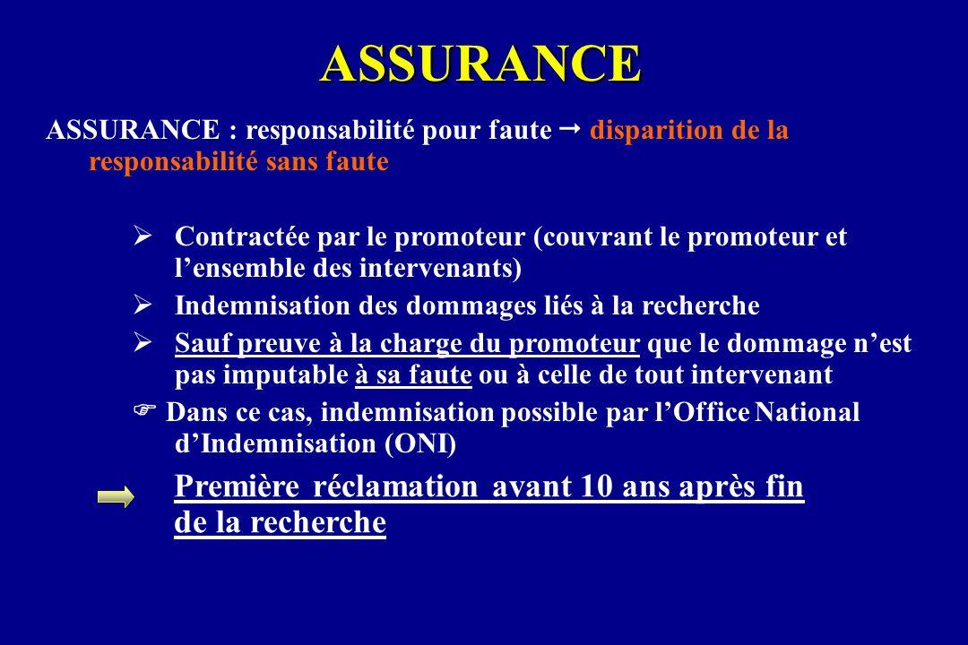 ASSURANCE ASSURANCE : responsabilité pour faute disparition de la responsabilité sans faute Contractée par le promoteur (couvrant le promoteur et lens