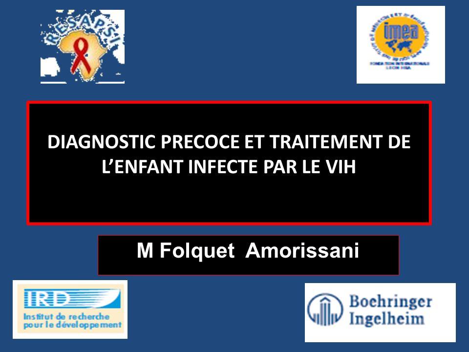 n= 375 Infection à VIH diagnostiquée avant 12 semaines et %CD4 >25 % Bras 1 Traitement reporté N=125 Bras 2 TARV à court terme (jusquà un an) N=125 Bras 3 TARV à long terme (jusquà deux ans) N=125 TART (mise en route ou reprise) lorsque %CD4 <20 % ou événement clinique TARV = ZDV + 3TC + LPV/r Suivi pendant un minimum de 3,5 ans Méthodes