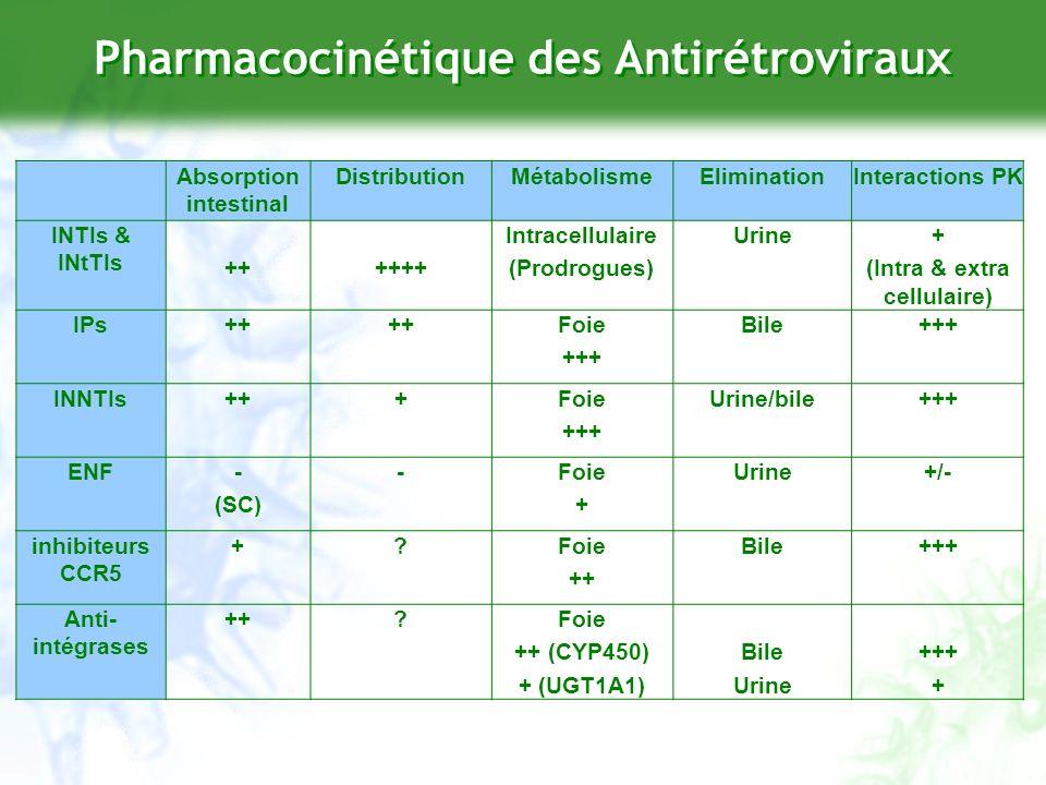 Drug-Drug Interactions CYP 3A4 CYP 2C19 CYP 2C9 CYP 2D6 CYP 1A2 CYP 2E1 CYP 2A6 CYP 2B6 CYP 2C8 InhibitionEnzymatique InductionEnzymatique RTV, NFV EFV, NVP APV, LPV TPV +++ RTV, NFV IDV, APV, DRV SQV, DLV Modified from Fichtenbaum et al, Clin Pharmacokinet, 2002 DLV RTV, NFV LPV .