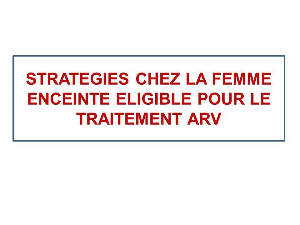 STRATEGIES CHEZ LA FEMME ENCEINTE ELIGIBLE POUR LE TRAITEMENT ARV