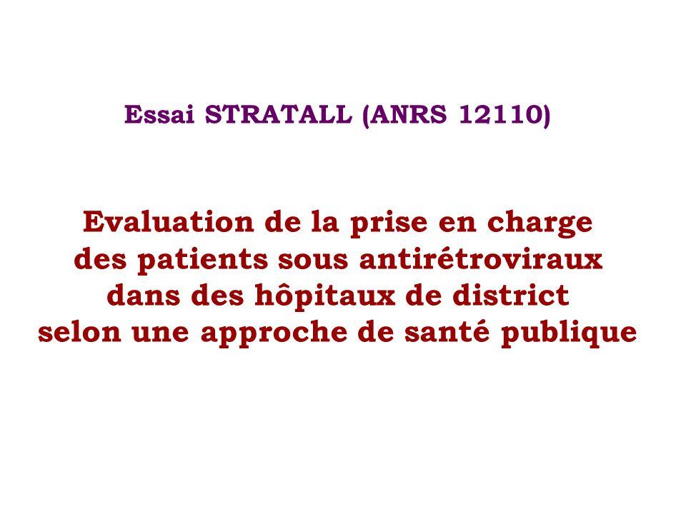 Essai STRATALL (ANRS 12110) Evaluation de la prise en charge des patients sous antirétroviraux dans des hôpitaux de district selon une approche de san