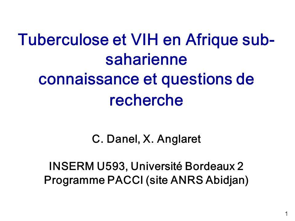1 Tuberculose et VIH en Afrique sub- saharienne connaissance et questions de recherche C.