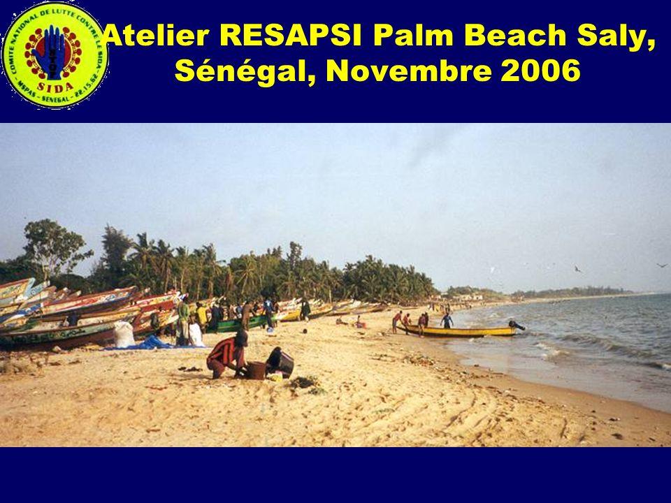 Atelier RESAPSI Palm Beach Saly, Sénégal, Novembre 2006