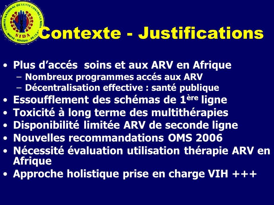 Contexte - Justifications Plus daccés soins et aux ARV en Afrique –Nombreux programmes accés aux ARV –Décentralisation effective : santé publique Esso
