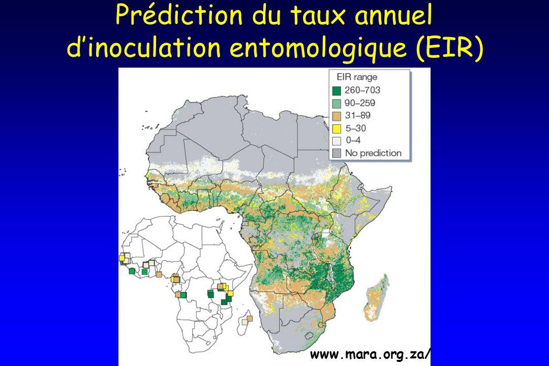 Prédiction du taux annuel dinoculation entomologique (EIR) www.mara.org.za/