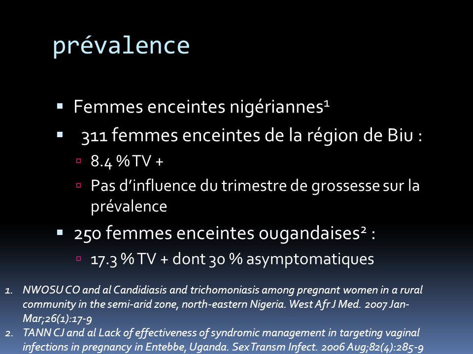 Transmission sexuelle 256 hommes partenaires de femmes TV+ 1 : 177 TV + (71.1 %) Dont 136 (77.3 %) étaient asymptomatiques 1.SENA AC and al Trichomonas vaginalis infection in male sexual partners: implications for diagnosis, treatment, and prevention Clin Infect Dis.