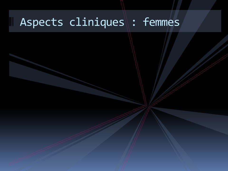 Aspects cliniques : femmes