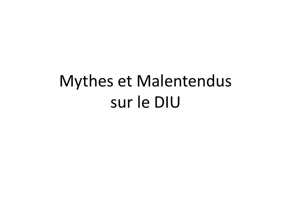 Mythes et Malentendus sur le DIU