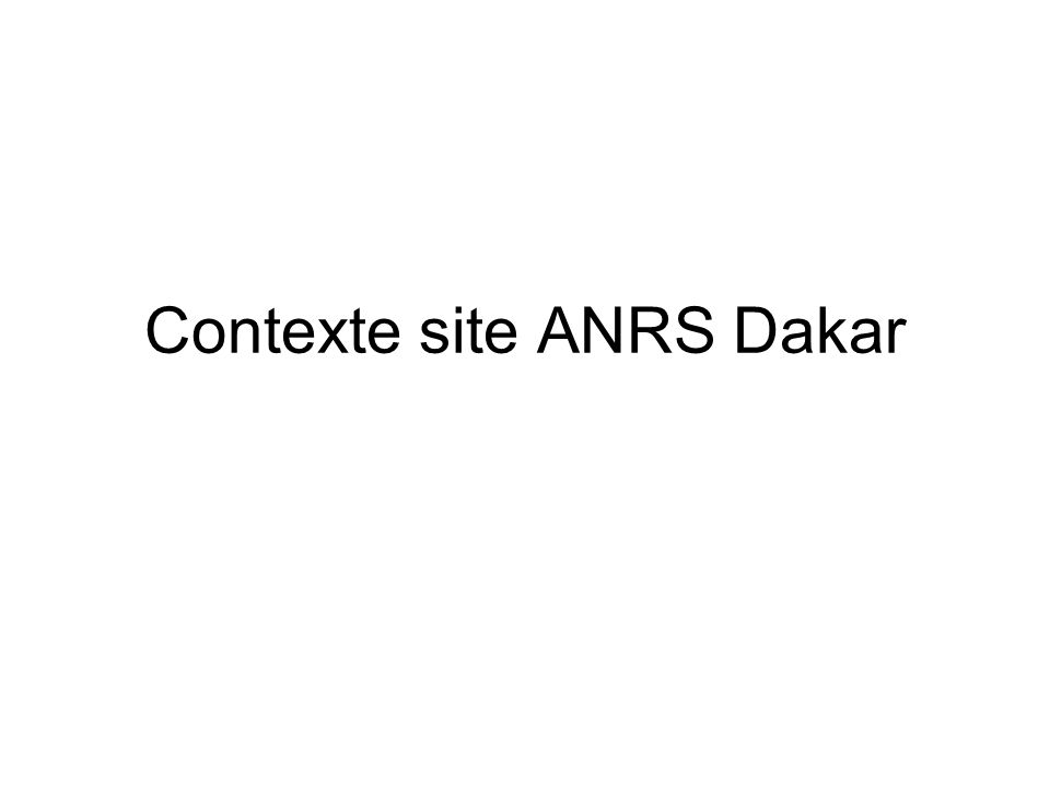 Contexte site ANRS Dakar