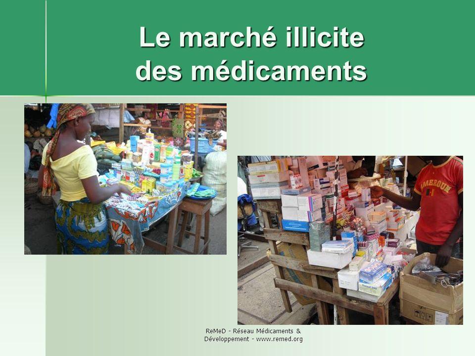 ReMeD - Réseau Médicaments & Développement - www.remed.org Le marché illicite des médicaments